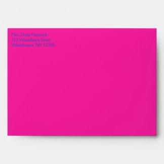 """Cobalto y sobre rosado del damasco A7 para 5"""""""" tam"""