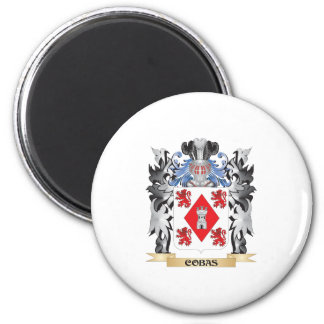 Cobas Coat of Arms - Family Crest 2 Inch Round Magnet