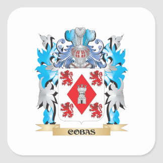 Cobas Coat of Arms - Family Crest Square Sticker