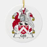 Cobb Family Crest Christmas Tree Ornament