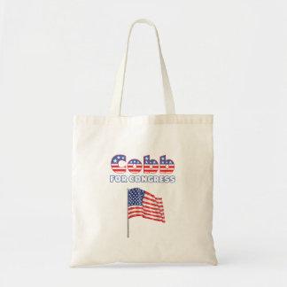 Cobb for Congress Patriotic American Flag Design Budget Tote Bag