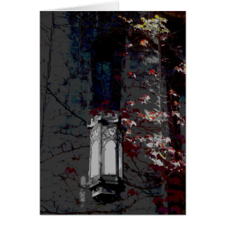 Cobb Hall Lamp With Maroon Ivy Card