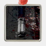 Cobb Hall Lamp With Maroon Ivy Christmas Tree Ornament