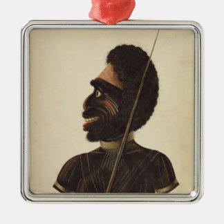 Cobbawn Wogi, native chief of Port Stephen Metal Ornament