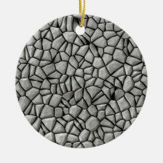 Cobble stones surface ceramic ornament