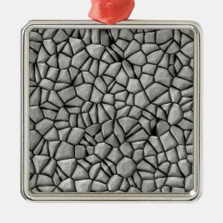 Cobble stones surface metal ornament