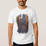 Cobbled alleyway of old city lit up at night T-Shirt