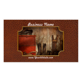 Cobbler - The shoe shiner 1900  Business Cards