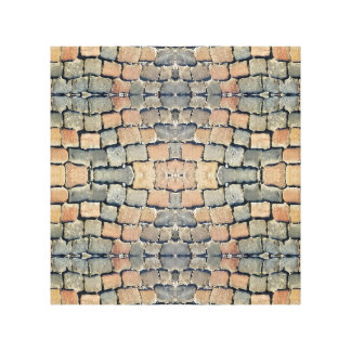 Cobbles Street Pattern Stretched Canvas Prints