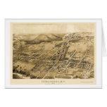 Cobbleskill, mapa panorámico de NY - 1883 Tarjetón