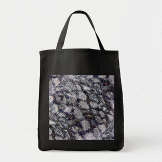 Cobblestone black canvas tote