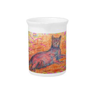 cobblestone cat pitcher