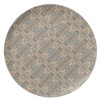 Cobblestone Geometric Texture Plate