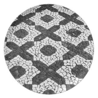 Cobblestone patterns plate