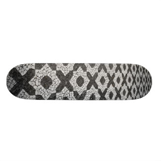 Cobblestone patterns custom skate board
