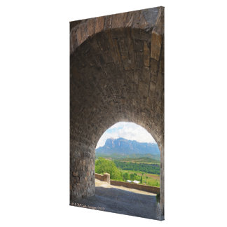 Cobblestone road, Pyrenees mountains Stretched Canvas Print