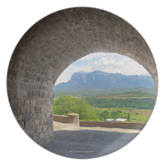 Cobblestone road, Pyrenees mountains Melamine Plate