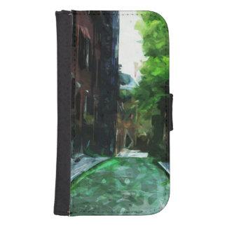 Cobblestone Street Beacon Hill Boston Abstract Wallet Phone Case For Samsung Galaxy S4
