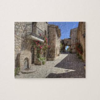Cobblestone street, stone buildings, historic jigsaw puzzle