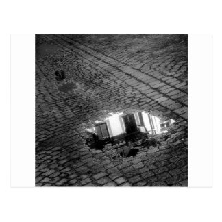 Cobblestone Street with puddle, Innsbruck Austria Post Card