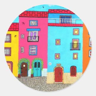 Cobblestone Streets of Sardinia Classic Round Sticker