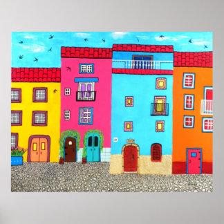 Cobblestone Streets of Sardinia Poster