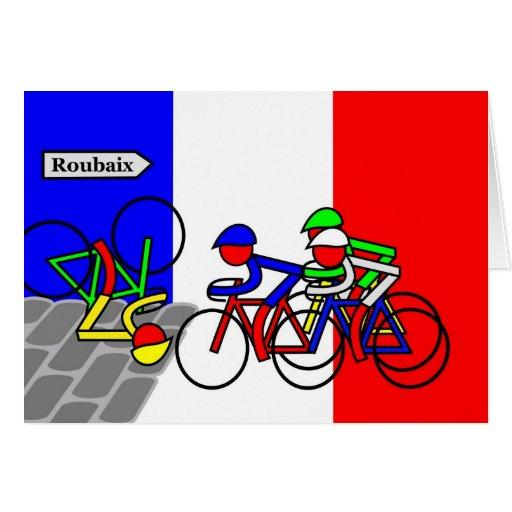 Cobblestones near Roubaix - Tour de France Greeting Cards
