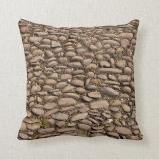Cobblestones Stable Courtyard Cotehele Cornwall UK Throw Pillow