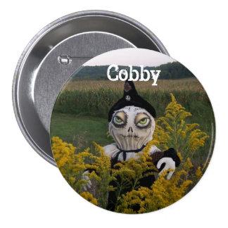 Cobby el botón espeluznante 2 del campo de maíz pin redondo de 3 pulgadas