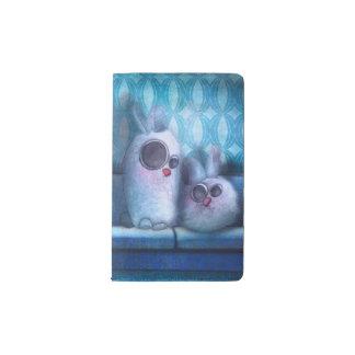"""Cobertura proteger-cuaderno """"Conejo de salón """" Funda Para Libreta Y Libreta Pequeña Moleskine"""