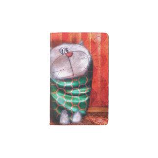 """Cobertura proteger-cuaderno """"Gato de tarde """" Funda Para Libreta Y Libreta Pequeña Moleskine"""