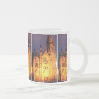 Cobh Ireland Cathedral 10 Oz Frosted Glass Coffee Mug