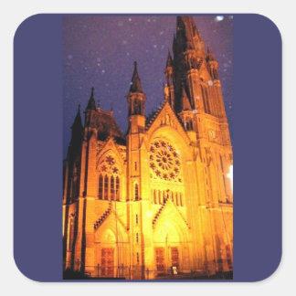 Cobh Ireland Cathedral Square Sticker