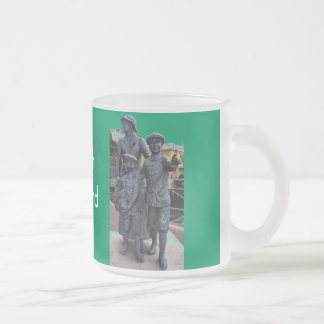 Cobh, Ireland Statues Frosted Glass Coffee Mug