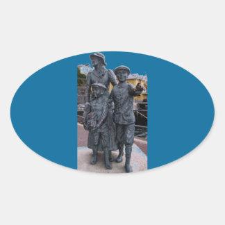 Cobh, Ireland Statues Oval Sticker
