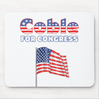 Coble for Congress Patriotic American Flag Mouse Pad