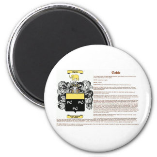 Coble (meaning) 2 inch round magnet