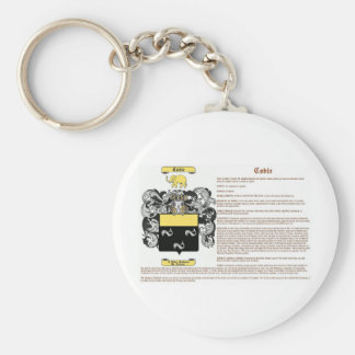 Coble (meaning) basic round button keychain
