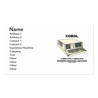 COBOL Completely Obsolete Business-Oriented Lang Business Card Templates