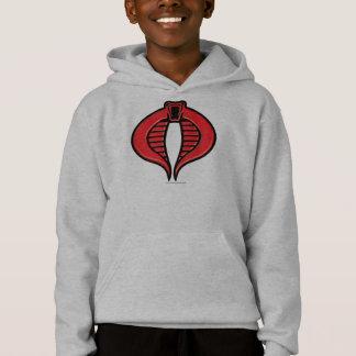 Cobra Black and Red Badge Hoodie