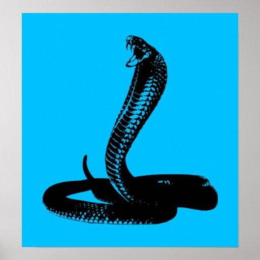 Cobra - black poster