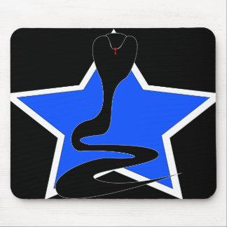 Cobra con la estrella azul Mousepad Tapetes De Ratón