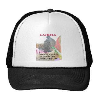 Cobra en una cesta lista para escupir el fuego gorro de camionero