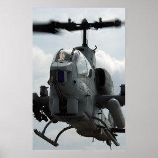 Cobra estupenda AH-1 Poster