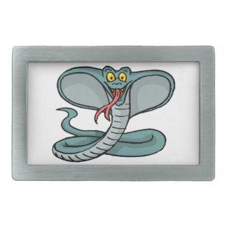 Cobra feliz hebilla cinturon rectangular