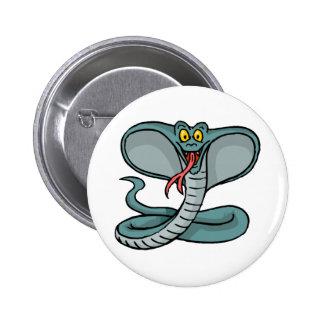 Cobra feliz pin redondo de 2 pulgadas