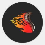 cobra flames design stickers