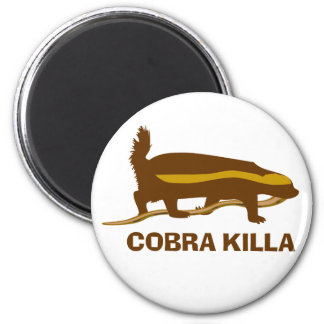 Cobra Killa del tejón de miel Imán Redondo 5 Cm