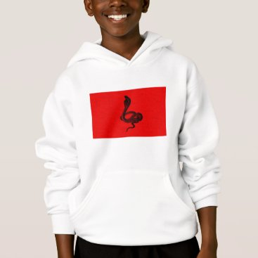 Halloween Themed Cobra on Red Animal Design Hoodie