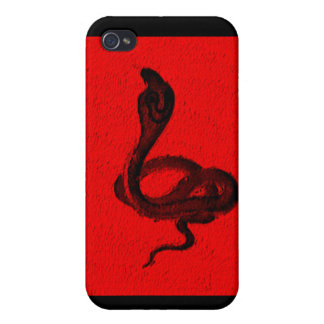 Cobra on Red Animal Design iPhone 4/4S Cases